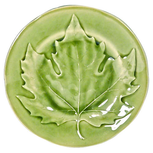 Majolica Choisy Le Roi Maple Leaf Plate