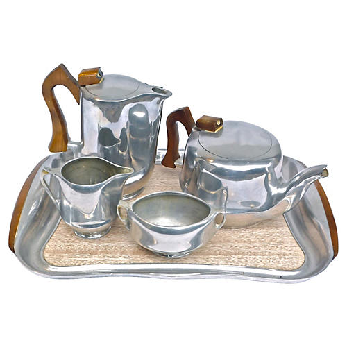 Picquot Ware Coffee Service, S/5