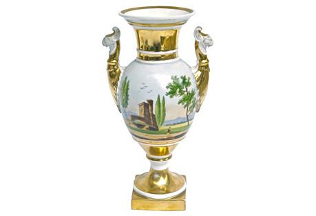 Antique Porcelain Gryphon Urn