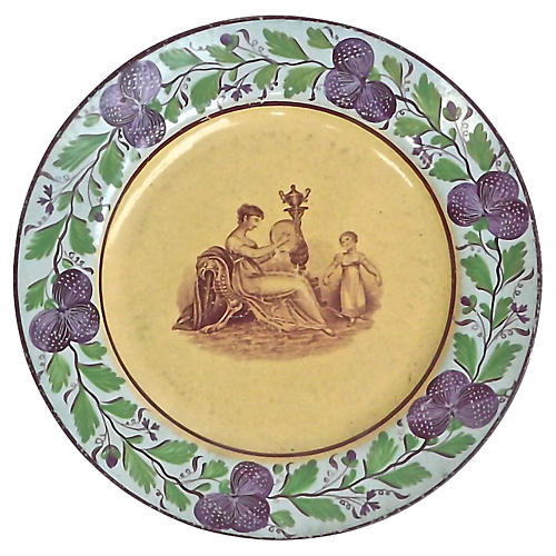 Antique Empire-Style Plate