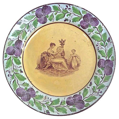 Antique Floral Empire Women & Plate