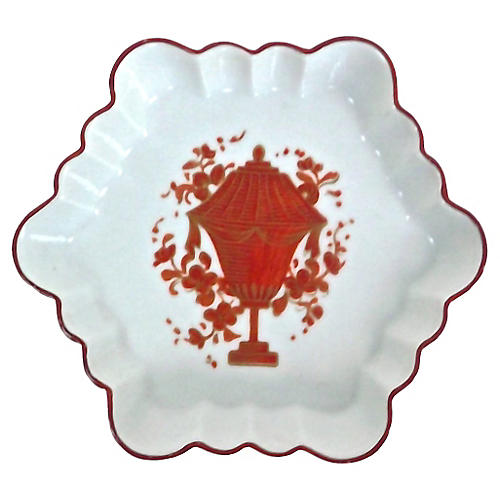 Mottahedeh Porcelain Scalloped Dish
