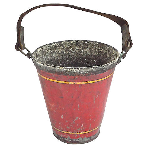 English Antique Fire Bucket