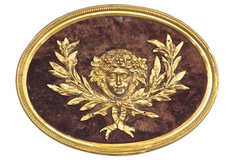 Velvet & Brass Caryatid Cartouche