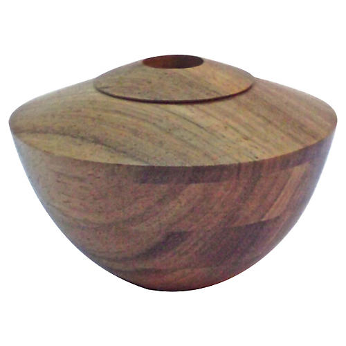 Turned Wood Vessel Vase