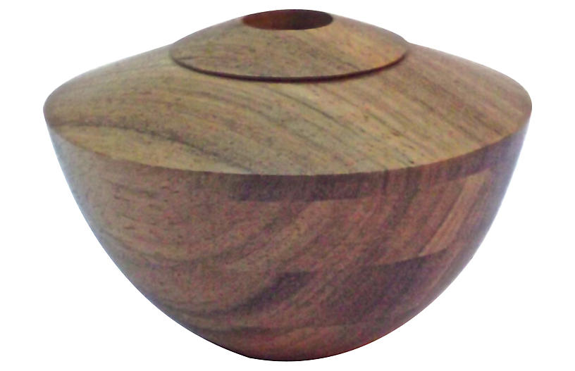 Turned Wood Vessel Vase