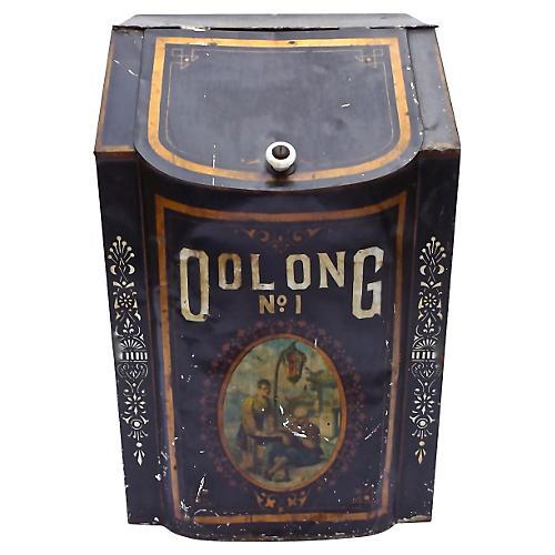 Antique Metal Oolong Tea Storage Bin