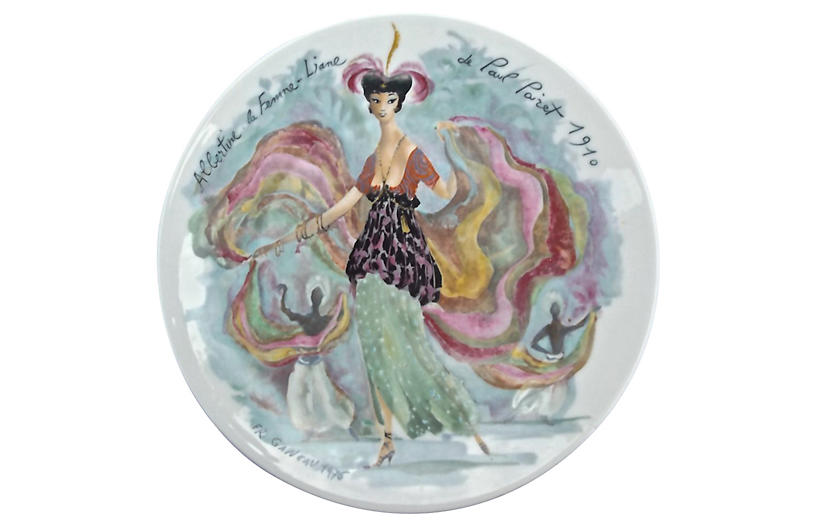 French Porcelain Fashion Plate