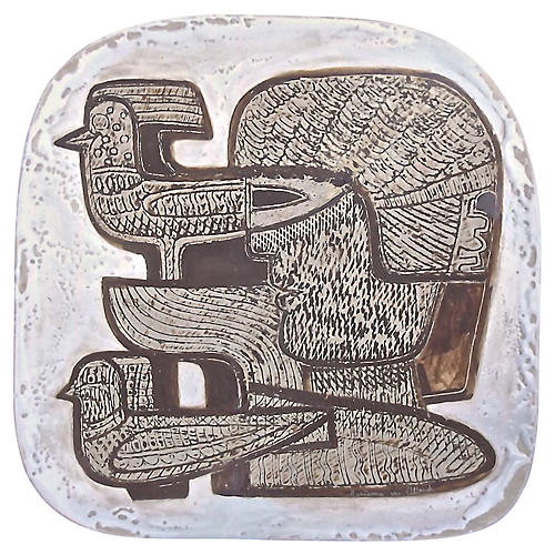 Abstract German Cubist Art Pottery Tray