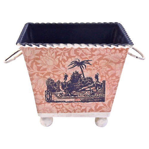 Classical Scene Floral Papered Cachepot