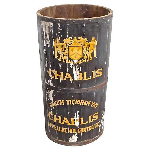 """Antique """"Chablis"""" Wine Cask"""