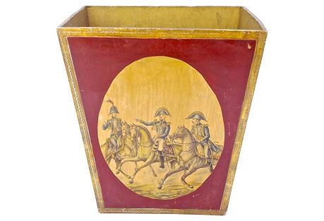 Florentine-Style Cavalier Scene Cachepot