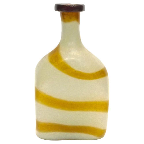 Murano Frosted & Caramel Glass Vase