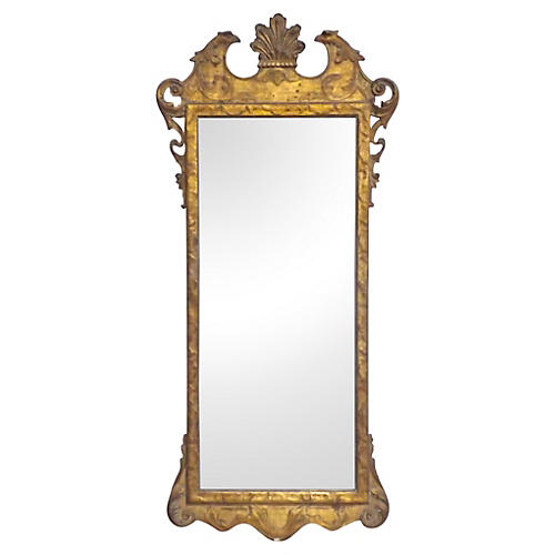 Antique Gilt Chippendale-Style Mirror