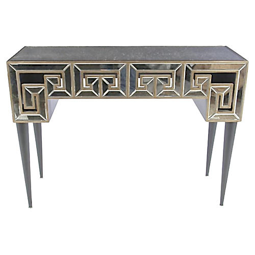 Mirrored Greek Key-Style Console