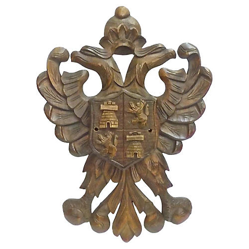 Black Forest Eagle Crest Wall Plaque