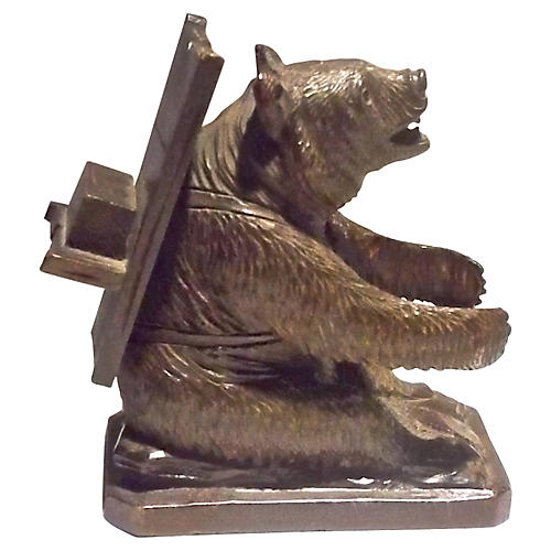 Black Forest Sitting Bear Figurine