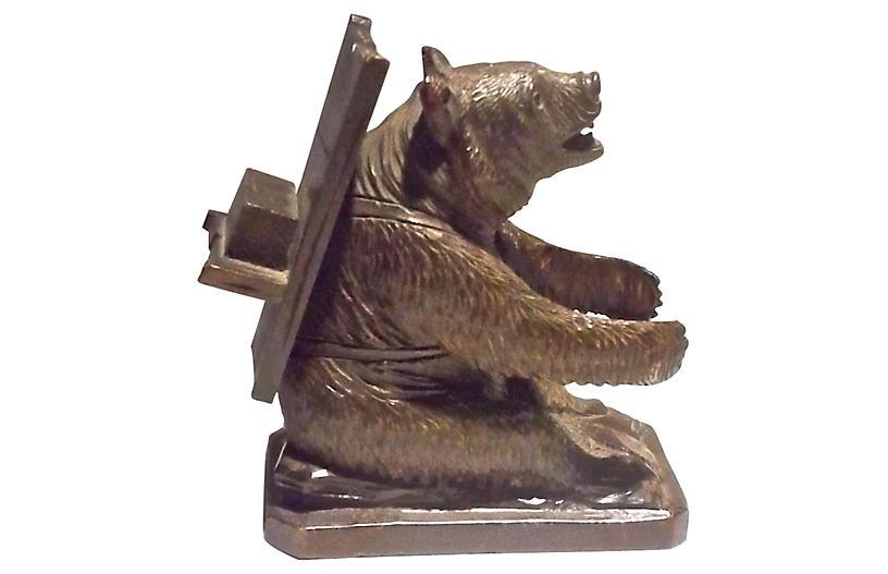Black Forest Sitting Bear Figurine