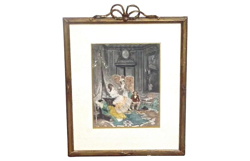 Antique Indescretion, Gouache Painting