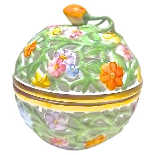 Porcelain Herend Floral Bonbonniere