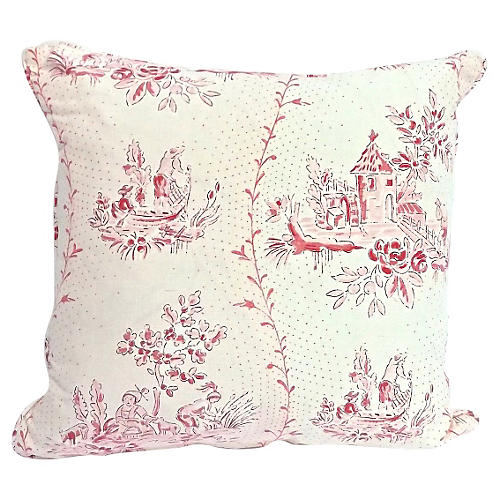 Brunschwig Countryside Toile Pillow