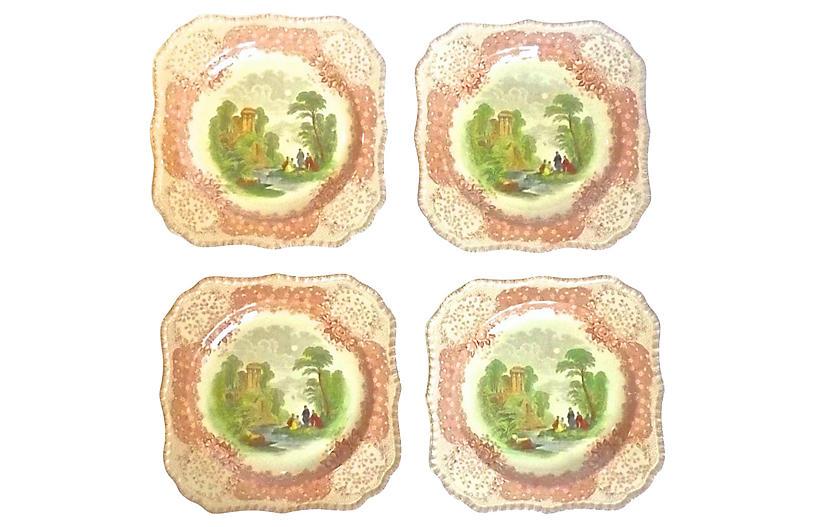 Classical Ruins Scenic Plates, S/4