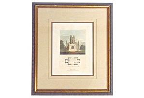 Antique Chapel Architectural Engraving*