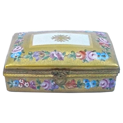 Gilt Porcelain Le Tallec Limoges Box
