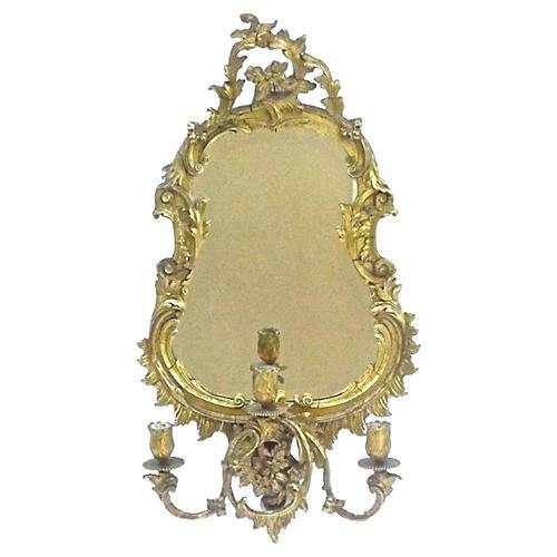 Antique French Gilt Acanthus Leaf Mirror