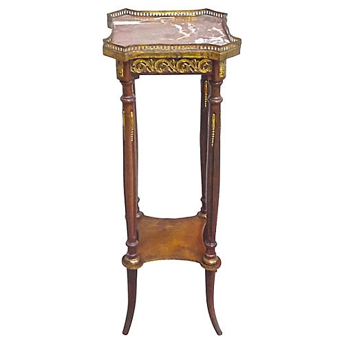 Antique Empire-Style Ormolu Pedestal