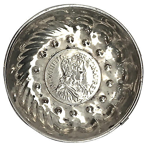 Antique Sterling Silver Coin Goûte-Vin