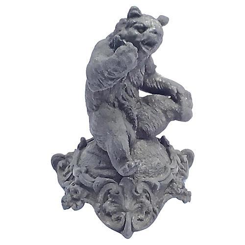 Antique Cast Iron Bear Figurine