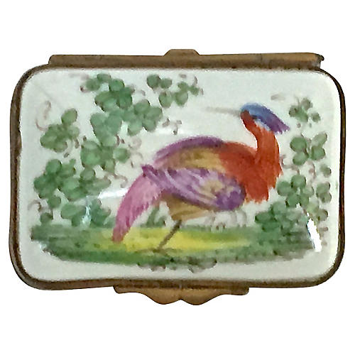 Antique Porcelain Limoges-Style Bird Box