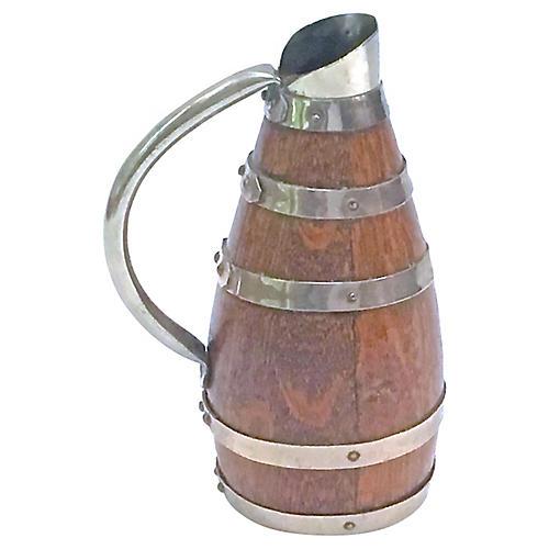 Antique Barrel-Style Pitcher