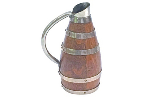 Antique Barrel-Style Pitcher