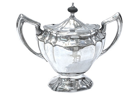 C.1900 Silver-Plated Monogrammed Creamer