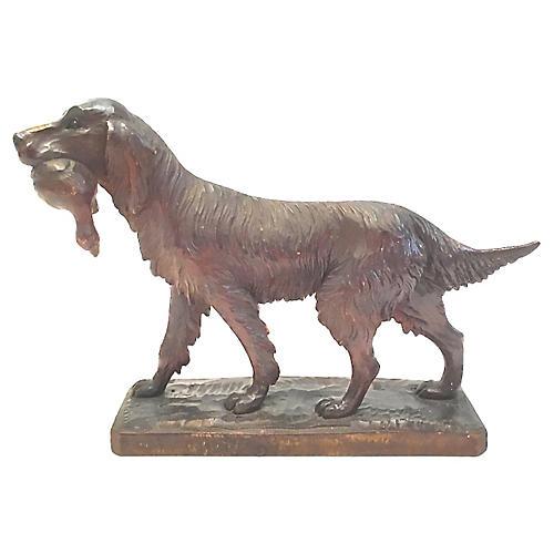 Black Forest Retriever Dog Figurine