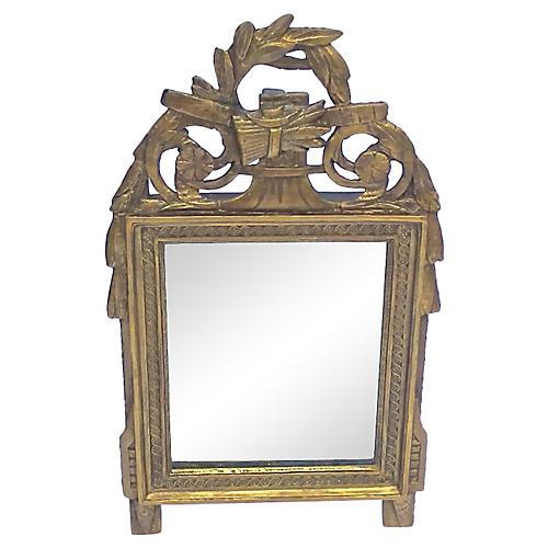 Carved Directoire Gilt Vanity Mirror