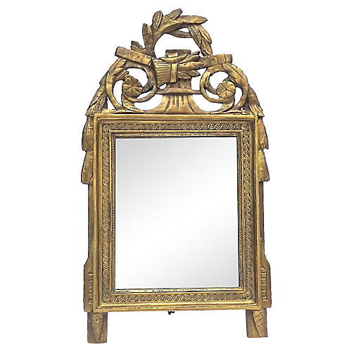 Carved Directoire Gilt Vanity Mirror