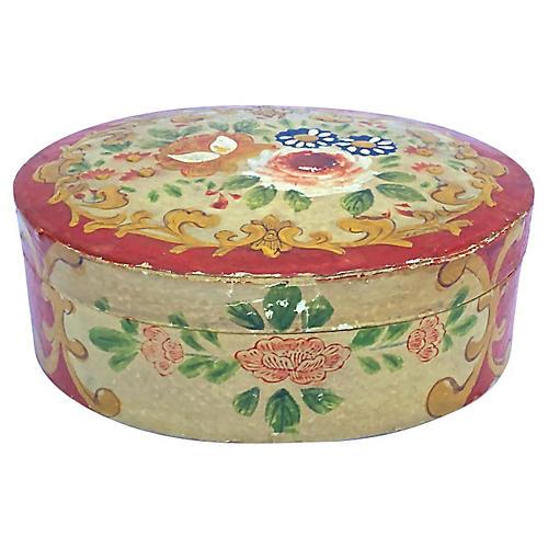 Japanese Papier-Mâché Floral Box