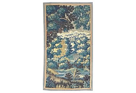 Antique Aubusson Verdure Scene Tapestry