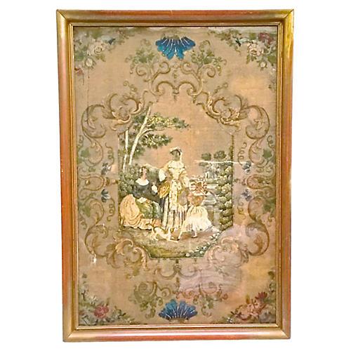 Antique Framed Needlework