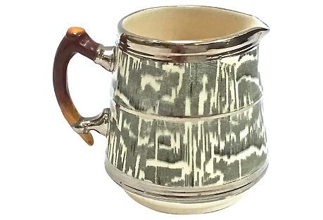 Faux-Bois Ceramic Creamer
