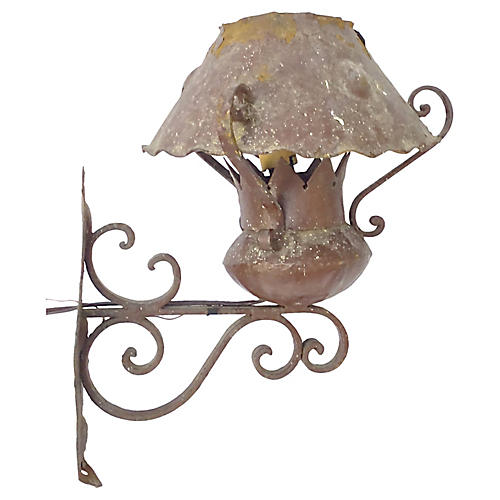 Antique Iron Outdoor Sconce