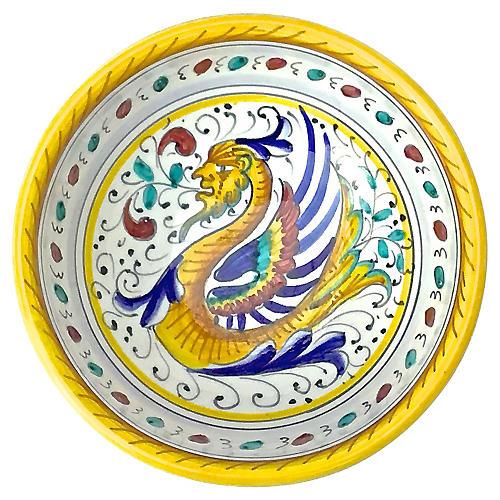 Deruta-Style Dragon Dish