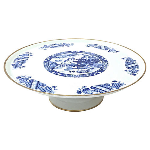 Limoges Chinoiserie Cake Plate