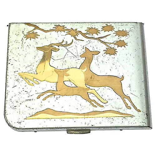 Art Deco Deer Card Case