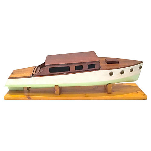 Nautical HandCrafted Model Speedboat