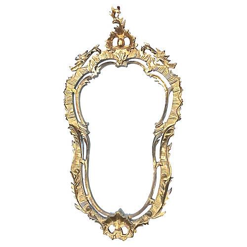 Antique Rococo-Style Wall Mirror