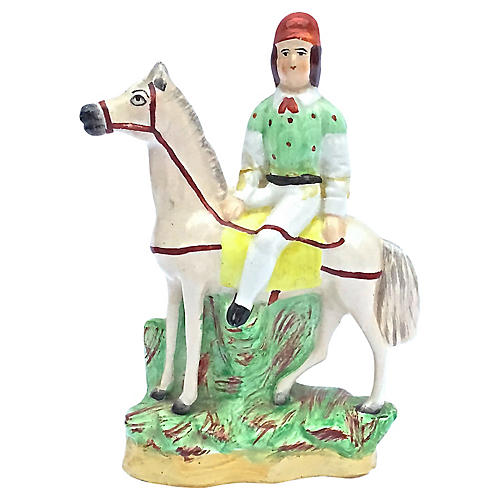 English Staffordshire Horse Rider